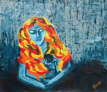 Motherly Love - 01, Painting by Madhu Awasthi