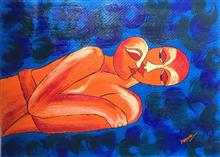 Painting by Madhu Awasthi - Love