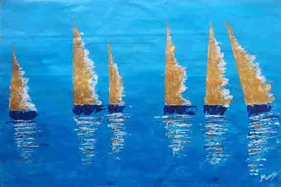 Indiaart - Boats Artwork