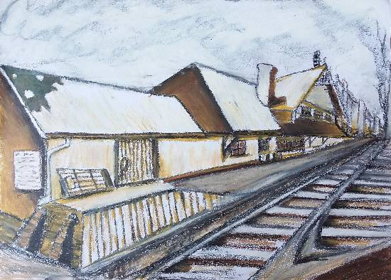 Painting  by Ganya Anand - Railway track