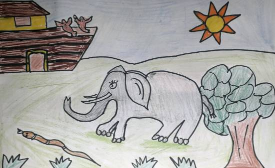 Painting  by Joysi Ajay Pardeshi - Elephant