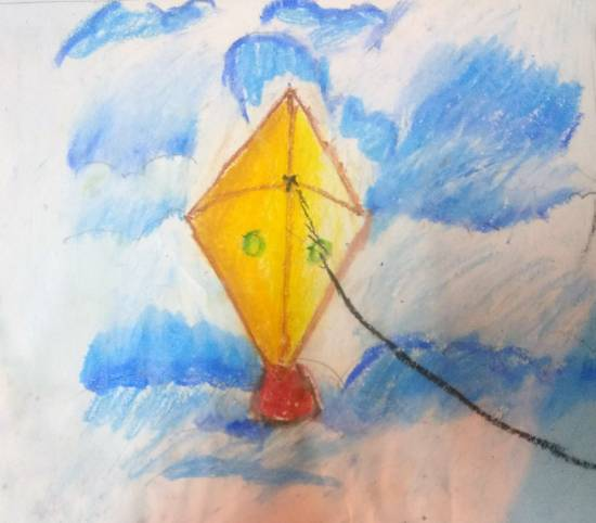 Painting  by Krutika Laxman Bhatadye - Kite