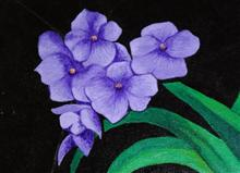 Paintings by Dr Kishor Batwe - Violets are forever