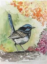 Bird - 1, painting by Pushpa Sharma