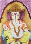 Paintings by Pushpa Sharma - Lord Ganesha - 1