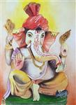 Paintings by Pushpa Sharma - Lord Ganesha - 2