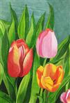Paintings by Pushpa Sharma - Tulip Trio
