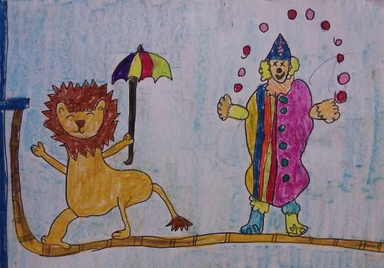Painting  by Ishani Karan Doshi - Fun in the circus
