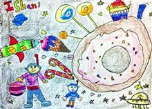 Painting  by Ishani Karan Doshi - My Candyland Planet