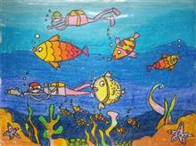 Painting  by Ishanvi Chamria - Sea Creatures