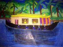 Painting  by Janhvi Jeeban Mishra - Beauty of Kerala