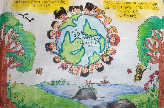 Painting  by Sharanya Mittal - Children's day