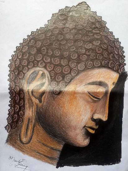 Lord Buddha, painting by Munish Sharma