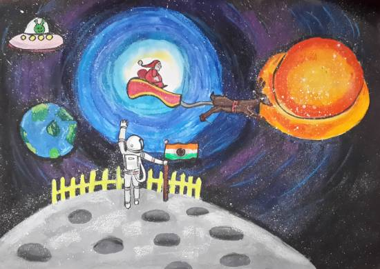 Painting  by Ishika Manish Gupta - Outer Space