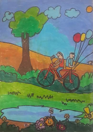 Journey of life, painting by Advay Manish Gupta