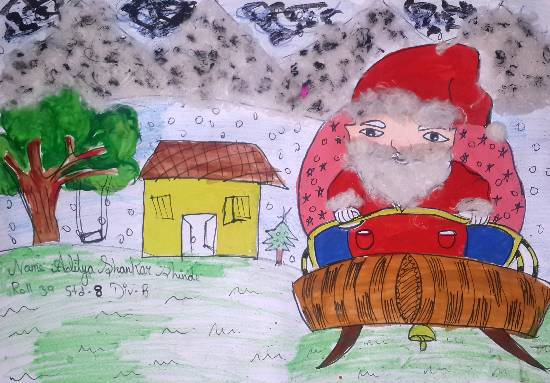 Painting  by Aditya Shinde - Santa clause