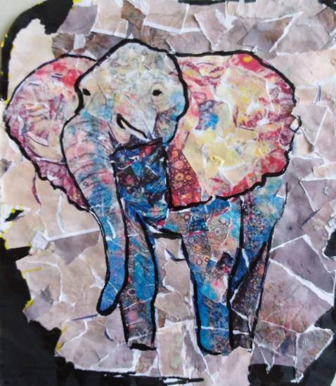 painting by Shrinkhla Sonkar - Elephant