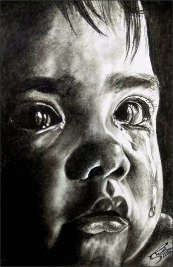 Child, painting by Shaunak Vaidya