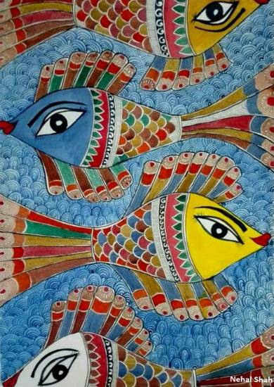 The Purusharth, painting by Nehal Shah