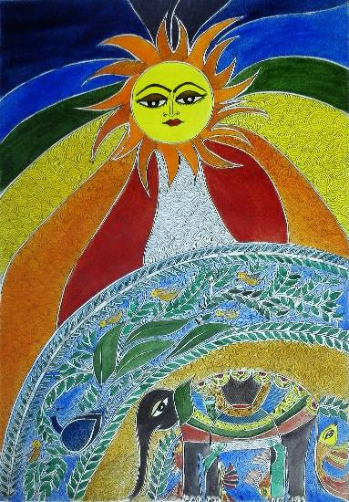 The Surya, painting by Nehal Shah