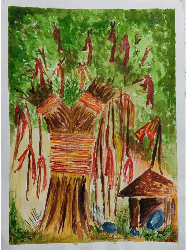 The Tree of Desire, painting by Nehal Shah