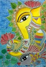 The Ganesha II, Painting by Nehal Shah