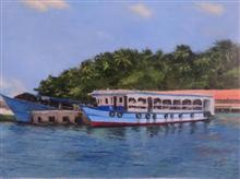 Ross Island, painting by Sangita Sarkar