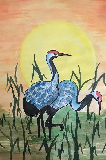 Painting  by Kirti Tiwari - Birds