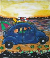 Painting  by Preety Padhiyar - My Car,  My Life