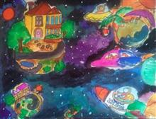 Painting  by Preety Padhiyar - Dream Universe