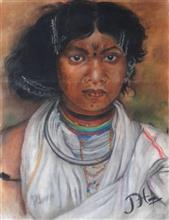 Painting  by Pradeep Himirika - Tribal in India