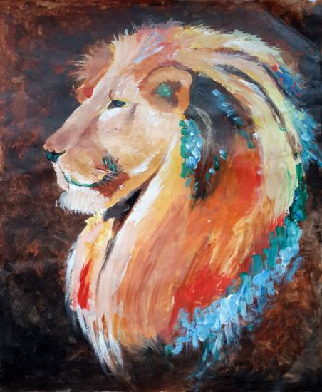 Painting  by Uttkarsh Gupta - Lion