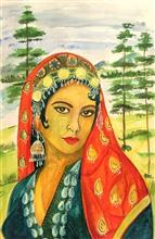 Painting  by Alisha Raghav - Kashmir in my eyes