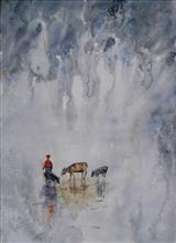 Painting  by Sneha Shinde - Rural Life - 1