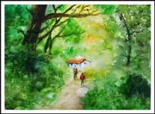 Painting  by Sneha Shinde - Into the Forest