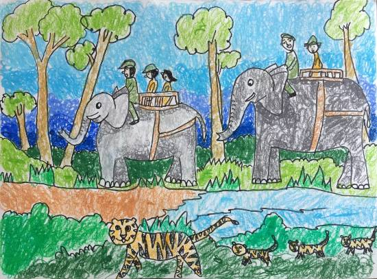 painting by Mihika Jagtap - Jungle Safari