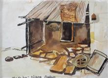 Painting  by Nigar Aslam - Muddy house