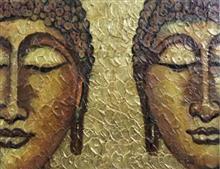 Buddha, painting by Amrita Banerjee