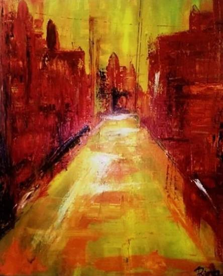 Abstract, painting by Rajrupa Biswas