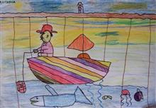 Painting  by Ritisha Goyal - A boat
