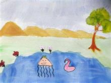 Painting  by Ritisha Goyal - A pond