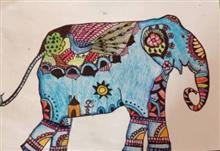 Painting  by Ritisha Goyal - Elephant