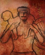 Serene Life, painting by Janaki Injety