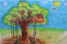 Painting  by Susanna Simon Almeida - Tree house