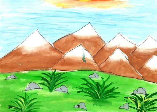 painting by Anuri Madhuashis - Hills