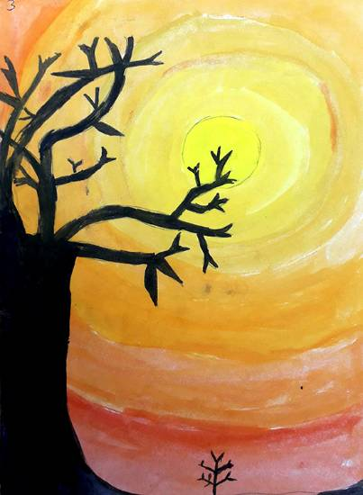 Painting  by Anuri Madhuashis - Sunset