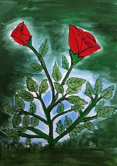 Painting  by Anuri Madhuashis - Roses