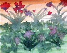 Painting  by Anuri Madhuashis - Flowers
