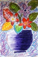 Painting  by Anuri Madhuashis - Flower vase