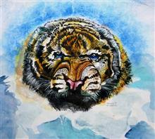 Painting  by Tanuj Samaddar - Tiger